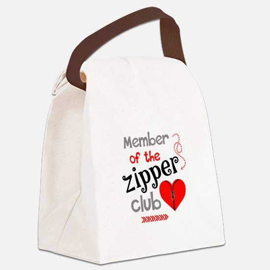 Member of the Zipper Club Canvas Lunch Bag