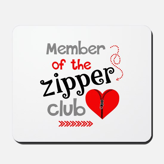 Member of the Zipper Club Mousepad