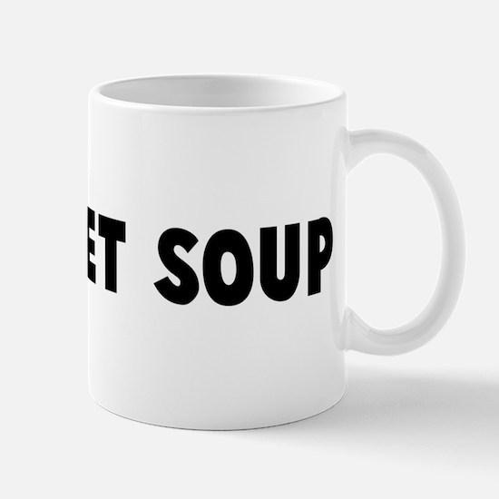 Alphabet soup Mug