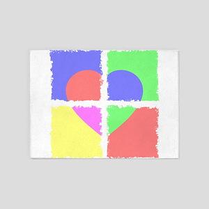 Hear (Frames) (Vivid) 5'x7'Area Rug