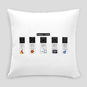 Platonic Solids Everyday Pillow
