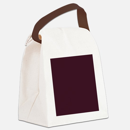 Cute Plum Canvas Lunch Bag