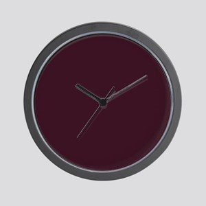 wine red burgundy plum Wall Clock