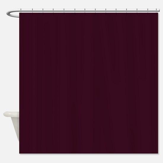 wine red burgundy plum Shower Curtain