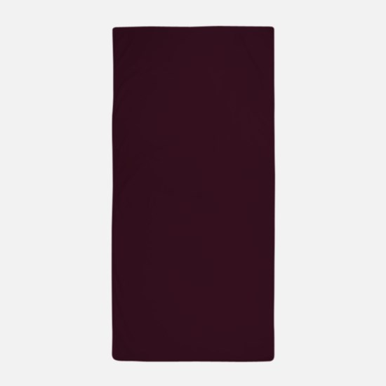 wine red burgundy plum Beach Towel