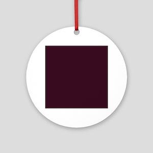 wine red burgundy plum Round Ornament