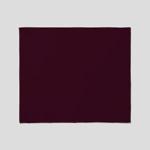 wine red burgundy plum Throw Blanket