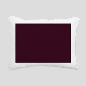 wine red burgundy plum Rectangular Canvas Pillow