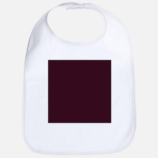 wine red burgundy plum Baby Bib