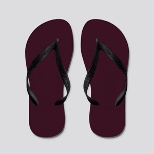 wine red burgundy plum Flip Flops
