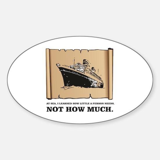 Unique Captain trips Sticker (Oval)
