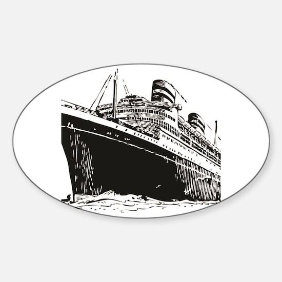Captain trips Sticker (Oval)