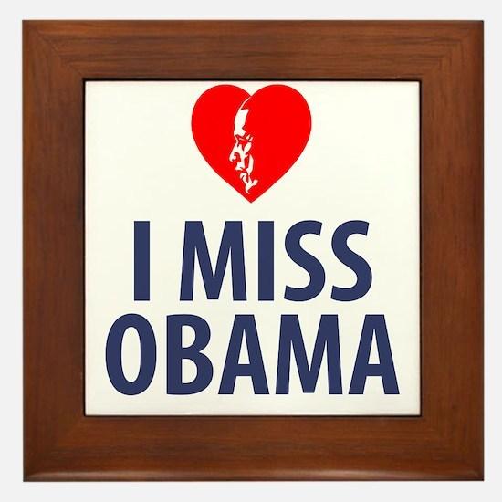 I Miss Obama Framed Tile