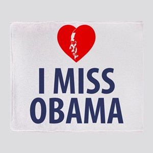 I Miss Obama Throw Blanket