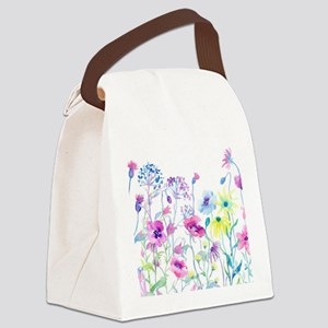Watercolor Field of Pastel Canvas Lunch Bag