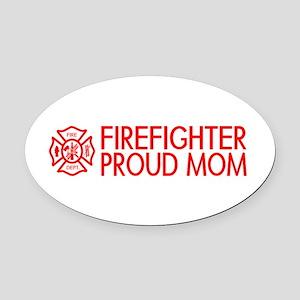 Firefighter: Proud Mom (Florian Cross) Oval Car Ma
