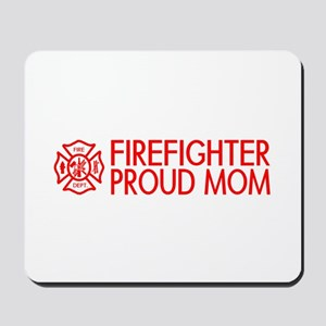 Firefighter: Proud Mom (Florian Cross) Mousepad