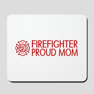 Firefighter: Proud Mom (Florian Cross) Mousepad