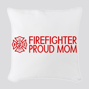 Firefighter: Proud Mom (Florian Cross) Woven Throw