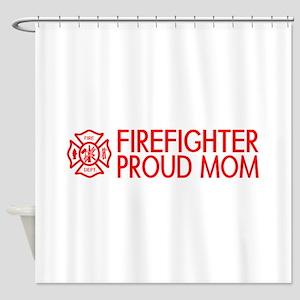 Firefighter: Proud Mom (Florian Cross) Shower Curt