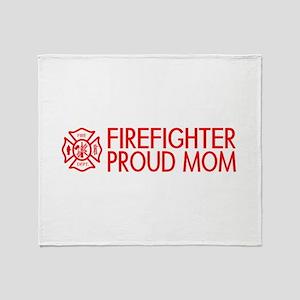 Firefighter: Proud Mom (Florian Cross) Throw Blank
