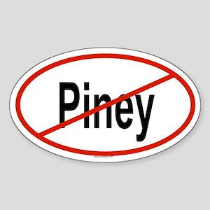 PINEY Oval Sticker