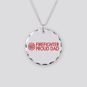 Firefighter: Proud Dad (Flor Necklace Circle Charm