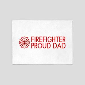 Firefighter: Proud Dad (Florian Cro 5'x7'Area Rug