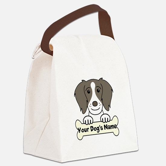 Personalized Brittany Spaniel Canvas Lunch Bag