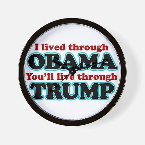 I Lived Through Obama Wall Clock