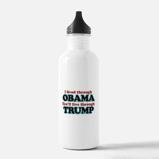 I Lived Through Obama Water Bottle