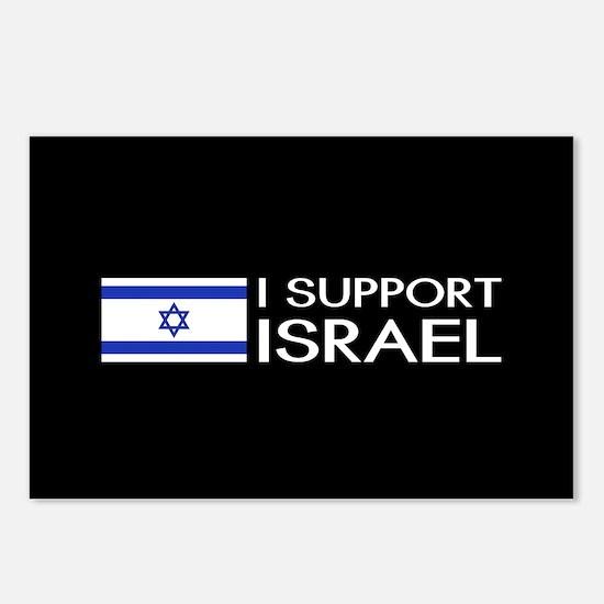 I Support Israel (Black) Postcards (Package of 8)