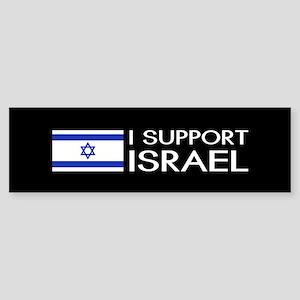 I Support Israel (Black) Bumper Sticker