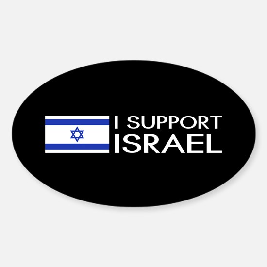I Support Israel (Black) Decal