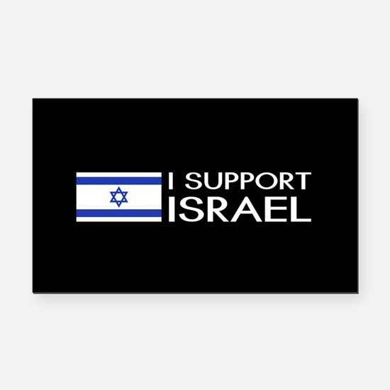 I Support Israel (Black) Rectangle Car Magnet