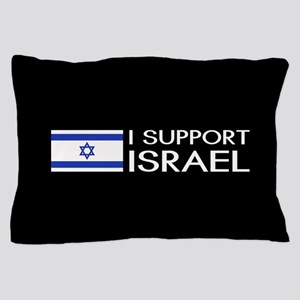 I Support Israel (Black) Pillow Case