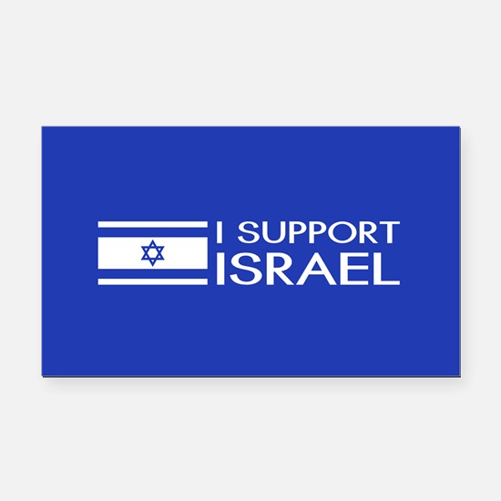 I Support Israel (Blue) Rectangle Car Magnet