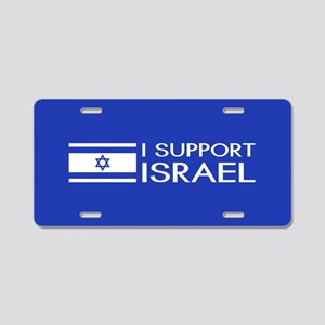 I Support Israel (Blue) Aluminum License Plate