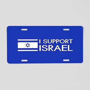 I Support Israel (Blue) Aluminum License Plate