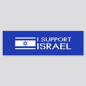 I Support Israel (Blue) Sticker (Bumper)