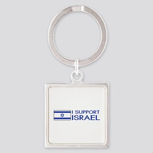 I Support Israel (White) Square Keychain