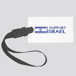 I Support Israel (White) Large Luggage Tag