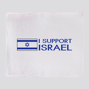 I Support Israel (White) Throw Blanket