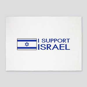 I Support Israel (White) 5'x7'Area Rug
