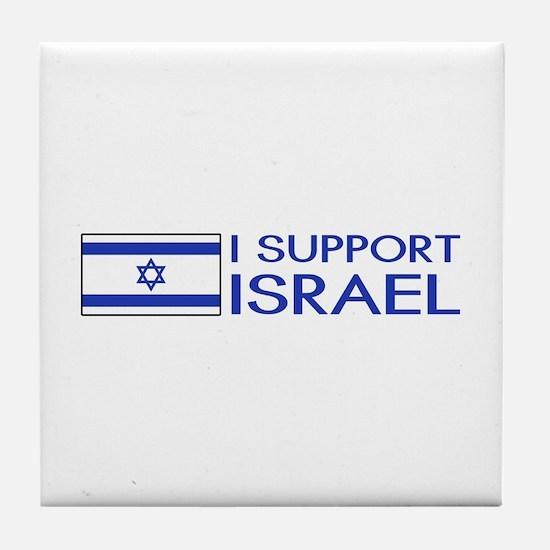 I Support Israel (White) Tile Coaster