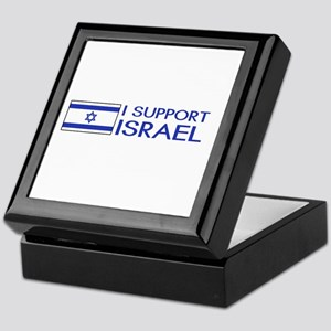 I Support Israel (White) Keepsake Box