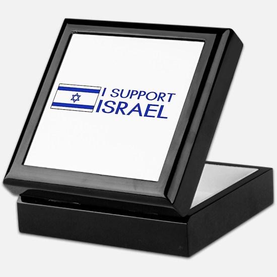 I Support Israel (White) Keepsake Box