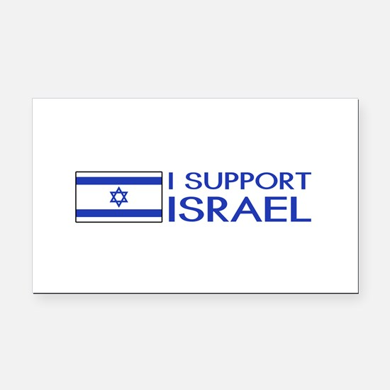 I Support Israel (White) Rectangle Car Magnet