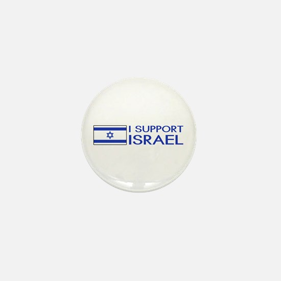 I Support Israel (White) Mini Button