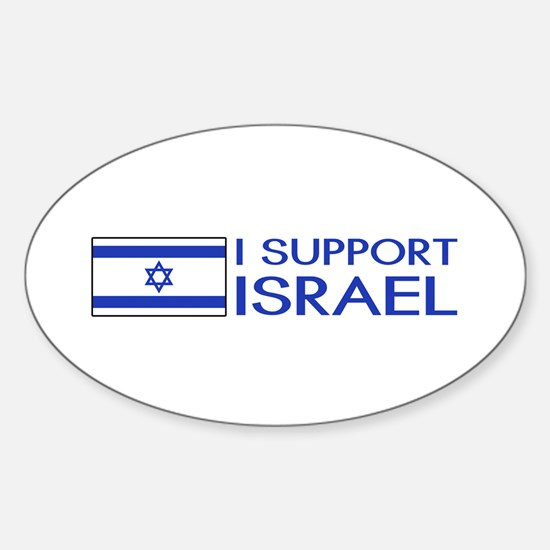 I Support Israel (White) Sticker (Oval)